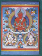 "Mongolia Postcard ""Longevity Deities With Amitayus In The Center"" Unused - Mongolie"