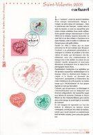 """"""" SAINT VALENTIN COEURS DE CACHAREL """" Sur Document Philatélique Officiel De 2005 N° YT 3747 3748 Parfait état. DPO - FDC"""