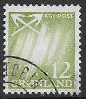 Greenland SG51 1963 Definitive 12ö Good/fine Used [38/31711/6D] - Greenland
