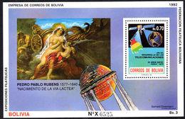 Bolivia 1992 Milky Way And Rubens Souvenir Sheet Unmounted Mint. - Bolivia