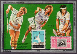 Bolivia 1986 Tennis Souvenir Sheet Unmounted Mint. - Bolivia
