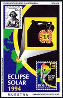 Bolivia 1994 Solar Eclipse MUESTRA Souvenir Sheet Unmounted Mint. - Bolivia