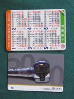 Japan - Train Card - Pocket Calendar - Transportation Tickets