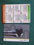 Japan - Train Card - Pocket Calendar - Titres De Transport