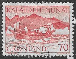 Greenland SG78 1972 Greenland Mail Transport 70ö Good/fine Used [38/31712/6D] - Greenland