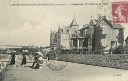 """CPA FRANCE 44 """"Sainte Marguerite Du Pornichet, L'esplanade Et L'hôtel De La Plage"""" - Pornichet"""
