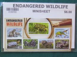 Australia MINT Stamps Sheet Endangered Wildlife Gorilla Birds Elephant Frog Turtle Leopard - 2010-... Elizabeth II