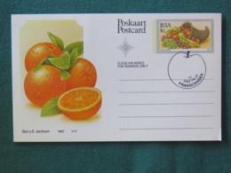 """South Africa 1982 FDC Stationery Maxicard """"orange Fruits"""" - Afrique Du Sud"""
