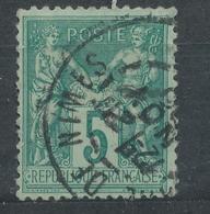 N°75 BEAU CACHET A DATE - 1876-1898 Sage (Type II)