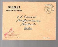 1964 Militair ERMELO Intendang…> Kopsadministrateur Koksschool Morschpoortkazerne Leiden (EY-55) - Lettres & Documents