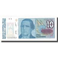 Billet, Argentine, 10 Australes, Undated (1986-89), KM:325b, NEUF - Argentine