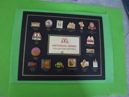 16 Pin's Mac Do McDonald's Historical Series Collection Edition II (Plus Plaque) RARE - SP64 - McDonald's