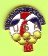 Pin's Mac Do McDonald's JO Jeux Olympiques Barcelona 1992 USA - 2W16 - McDonald's