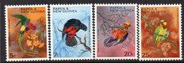 PAPUA NEW GUINEA, 1967 PARROTS 4 MNH - Papua New Guinea