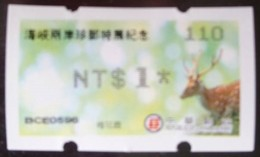 Black Imprint 2018 Cross-strait Rare Stamps Exhi  ATM Frama Stamp Sika Deer Unusual - ATM - Frama (labels)