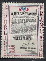 FRANCE      N° YVERT  :     1408   ( 2 )   OBLITERE - France
