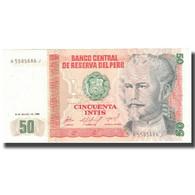 Billet, Pérou, 50 Intis, 1986, 1986-03-06, KM:131a, NEUF - Pérou