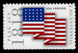 USA, 2018, 5284 Flag Act Of 1818, Single,  MNH, VF - Ongebruikt
