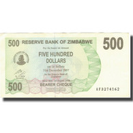 Billet, Zimbabwe, 500 Dollars, 2006, 2006-08-01, KM:43, TTB+ - Zimbabwe