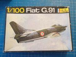 HEL115 Collector Années 60/70 Maquette Plastique 1/100 Marque HELLER Avion FIAT G.91  Boite Noire , Complète Et Non Comm - Avions