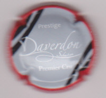 Capsule Champagne DAVERDON Sébastien ( 10 , Contour Rouge ) {S51-18} - Champagne