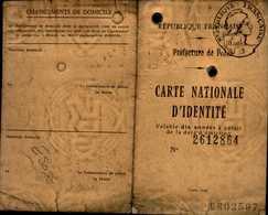 CARTE NATIONALE D'IDENTITE  1969 - Cartes