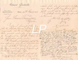 24-0250   1892 EDUARD GARDEICKE A STETTIN - M. FOUCAULD A COGNAC - France