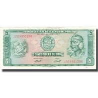 Billet, Pérou, 5 Soles De Oro, 1971, 1971-09-09, KM:99b, SPL - Pérou