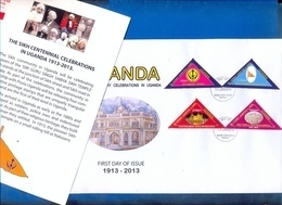 UGANDA FDC Sikh Centenary Celebrations In Uganda 1913 - 2013, W/ Flyer First Day Of Issue 2014 #101 - Ouganda (1962-...)