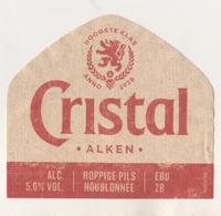 BRASSERIE D ALKEN BELGIQUE - BIERE  CRISTAL ( LION ) HOPPIGE PILS HOUBLONNEE -  VOIR LE SCANNER - Beer