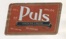 BRASSERIE PULS ESTONIE - ANNO 1846, RED LAGER BEER - VOIR LE SCANNER - Beer