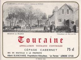 TOURAINE CEPAGE CABERNET DOMAINE DES VIEUX MOINES 1995 (8) - Bordeaux