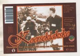 BIERE KOERSEKLAKSKE DESSELGEMS BELGIQUE - THEME CYCLISME ET BIERE - VOIR LE SCANNER - Beer