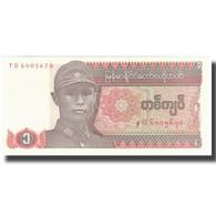 Billet, Myanmar, 1 Kyat, Undated (1990), KM:67, TTB+ - Myanmar