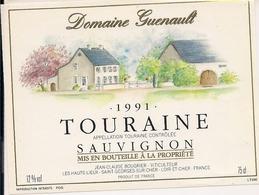 TOURAINE SAUVIGNON  DOMAINE GUENAULT 1991  (8) - Bordeaux