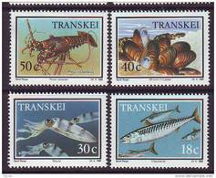 D101225 Transkei 1989 South Africa MARINE FOOD Crayfish Cuttlefish Mussels MNH Set - Afrique Du Sud Afrika RSA - Transkei