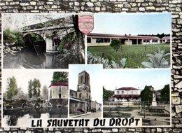La Sauvetat Du Dropt Le Pont Sur Le Dropt 1969 Pliure CPM Ou CPSM - Altri Comuni