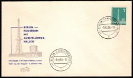 BER SC #9N123 1956 Radio Station, Berlin (with Top Inscription) FDC 10-05-1956 - [5] Berlin
