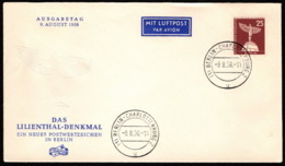 BER SC #9N129 1956 Lillienthal Monument FDC 08-09-1956 - [5] Berlin
