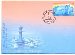 2018. Kyrgyzstan, 43rd Chess Olympiad, FDC, Mint/** - Kirghizistan