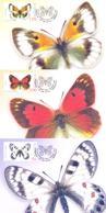 2018. Kyrgyzstan, Butterflies Of Kyrgyzstan, 3 Maxicards, Mint/** - Kirghizistan