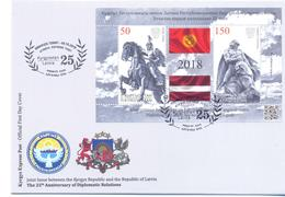 2018. Kyrgyzstan, 25y Of Diplomatic Relations With Latvia, FDC, Mint/** - Kirgisistan