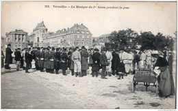 VERSAILLES LA MUSIQUE DU 1er GENIE PENDANT LA POSE TBE - Versailles