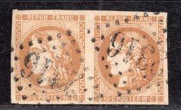 Emission De Bordeaux  N° 43B (Variété, Filet Absent)  Avec Oblitération Losange 2316 En Paire  TTB - 1870 Bordeaux Printing