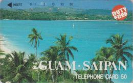 Rare Télécarte Japon / 110-50074 - Site GUAM SAIPAN ** DUTY FREE ** - Japan Phonecard - 37 - Landschaften