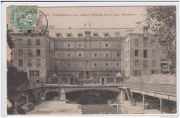 CORBEIL LES GRANDS MOULINS SUR LE QUAI MAUZAISSE 1907 - Corbeil Essonnes