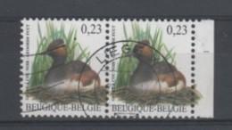 Belgique - COB N° 3546 En Paire + Bord De Feuille - Oblitéré - 1985-.. Oiseaux (Buzin)