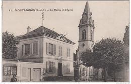 MONTLIGNON LA MAIRIE ET L'EGLISE TBE - Montlignon