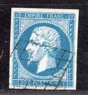 Napoléon III N° 14A Avec Oblitèration Grille  TTB - 1853-1860 Napoléon III