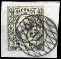 1855, Altdeutschland Sachsen, 8, Briefst. - Sachsen
